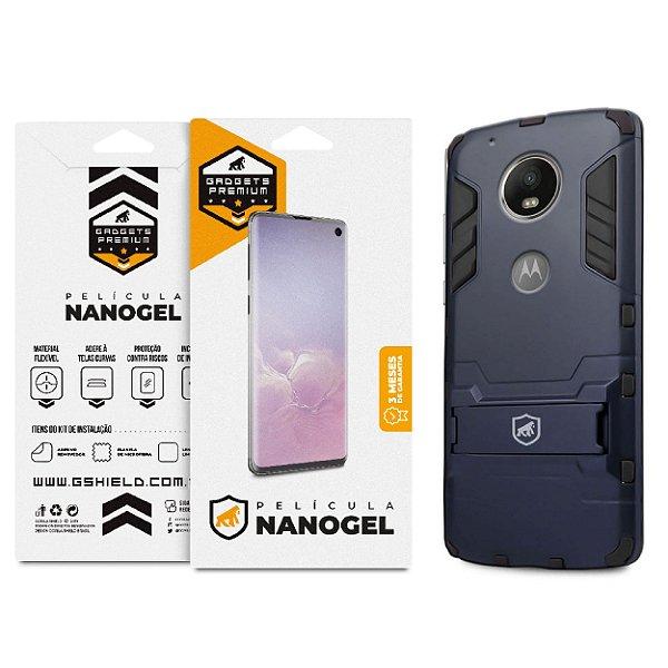 Kit Capa Armor e Película Nano Gel Dupla para Motorola Moto G5S PLUS - Gshield