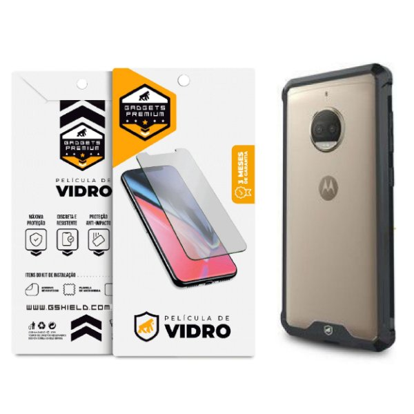Kit Capa Ultra Slim Air Preta e Película de vidro dupla para Motorola Moto G5 - Gshield
