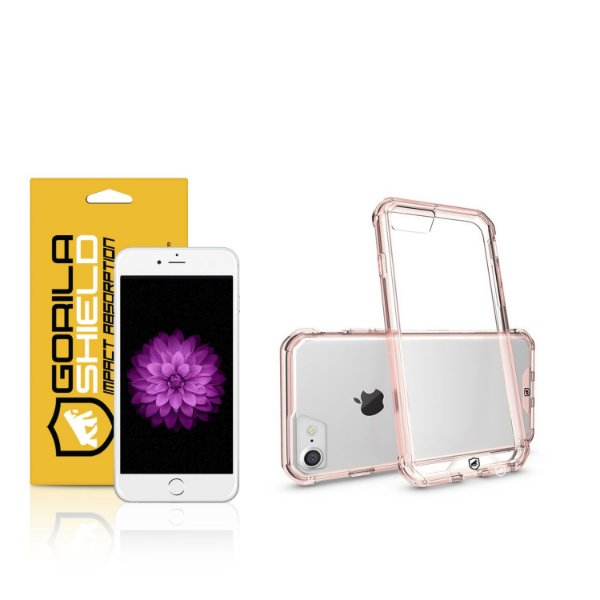 Kit Capa Ultra Slim Air Rosa e Película de vidro dupla para Iphone 6s – Gorila Shield