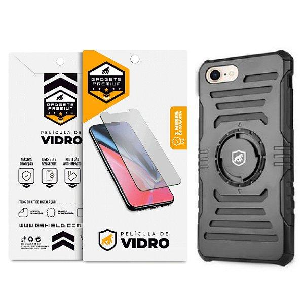 Kit Capa Armband 2 em 1 e Película de vidro dupla para iPhone 8 - Gshield