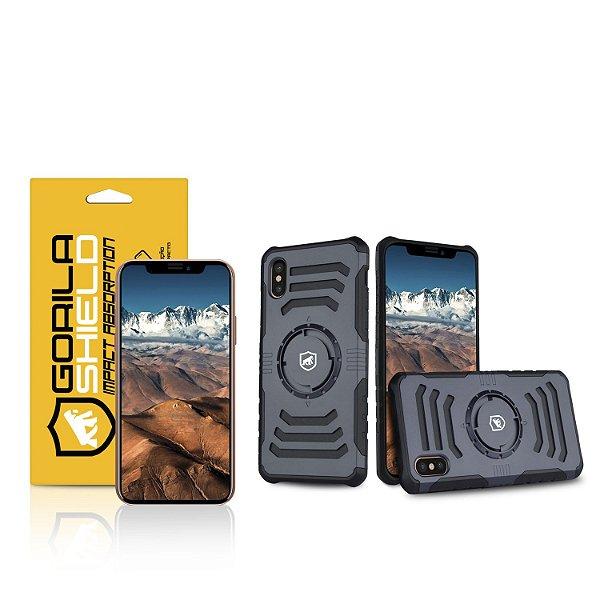 Kit Capa Armband 2 em 1 e Película de vidro dupla para iPhone X e XS- Gorila Shield