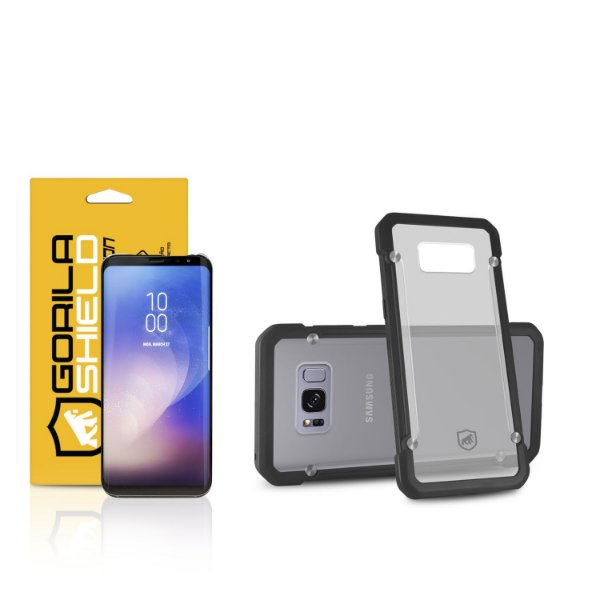 Kit Capa Grip Shield e Película Nano Gel dupla para Samsung Galaxy S8 – Gorila Shield