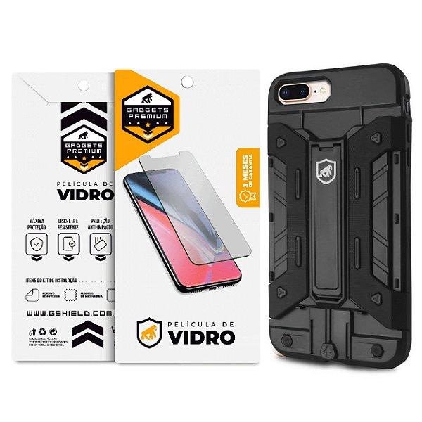 Kit Capa Guardian e Película de vidro dupla para Iphone 7 Plus e 8 Plus - Gshield
