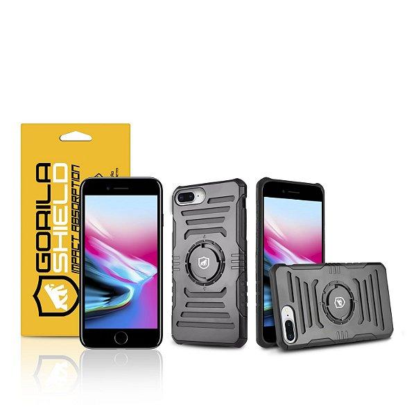 Kit Capa Armband 2 em 1 e Película de vidro dupla para Iphone 8 Plus - Gorila Shield