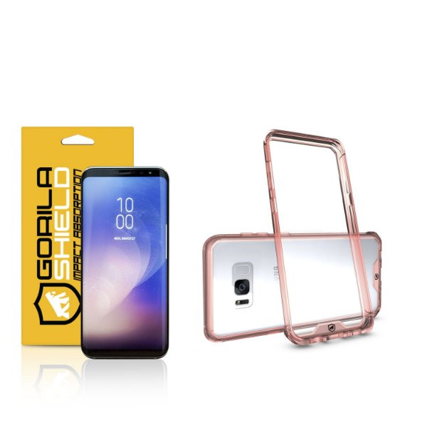 Kit Capa Ultra Slim Air Rosa e Película Nano Gel dupla para Samsung Galaxy  S8 - Gorila Shield