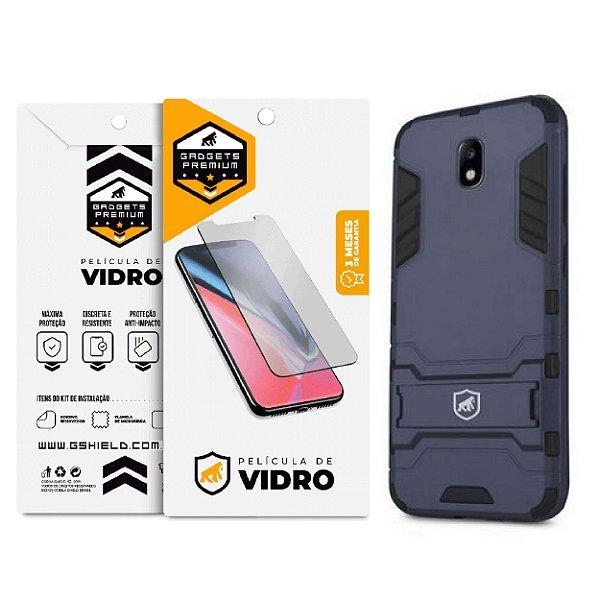 Kit Capa Armor e Película de vidro dupla para Samsung Galaxy J7 Pro - Gshield