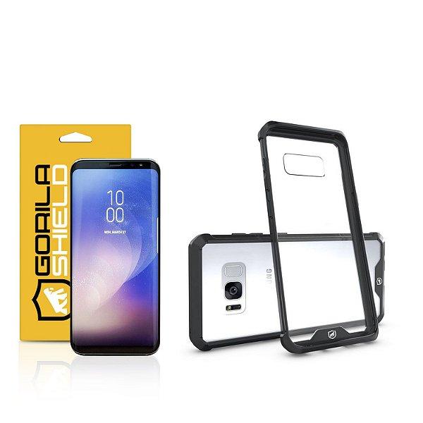 Kit Capa Ultra Slim Air Preta e Película Nano Gel dupla para Samsung Galaxy S8 Plus  – Gorila Shield