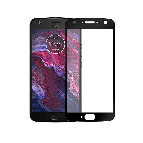 Película Coverage Color para Motorola Moto X4 - Preta - Gshield (Cobre toda tela)