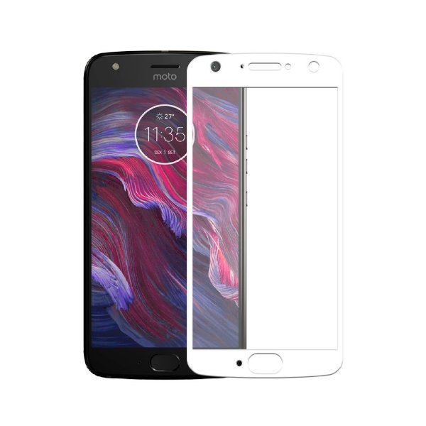 Película Coverage Color para Motorola Moto X4 - Branca - Gorila Shield (Cobre toda tela)