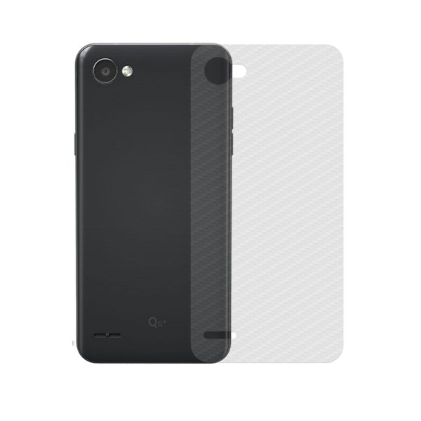 Película Traseira de Fibra de Carbono Transparente para LG Q6 e Q6 Plus - Gshield