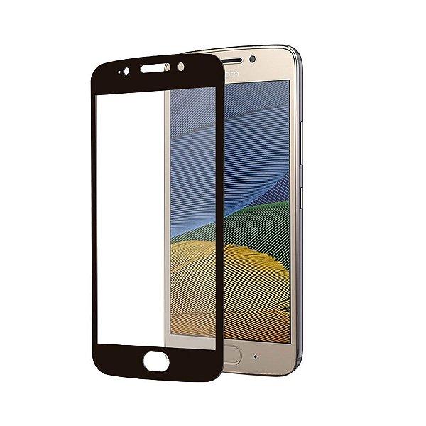 Película Coverage 5D Pro Preta para Motorola Moto G5 - Gshield (COBRE TODA TELA)