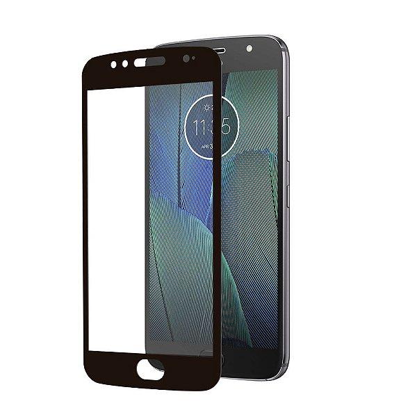 Película Coverage Color para Motorola Moto G5S Plus - Preta - Gshield (COBRE TODA TELA)