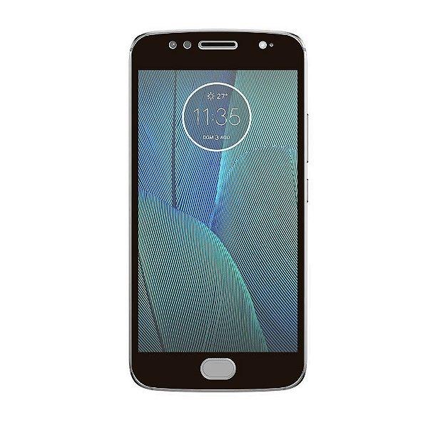 Película Coverage Color para Motorola Moto G5S Plus - Preta - Gorila Shield (COBRE TODA TELA)