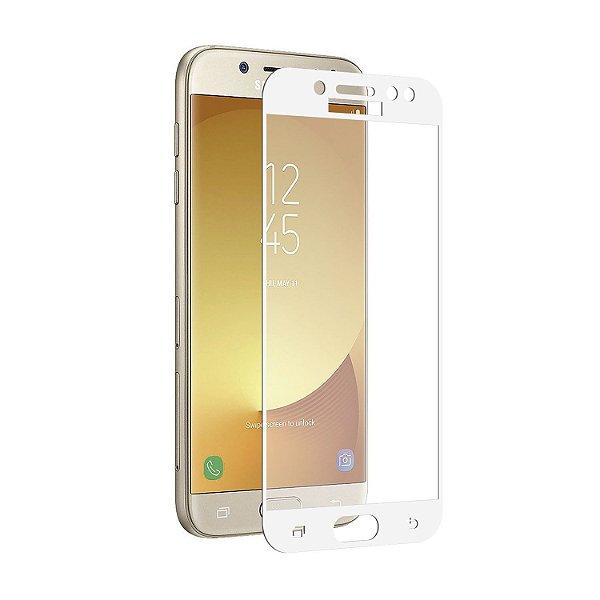 Película Coverage Color para Samsung Galaxy J7 Pro - Branca - Gshield (COBRE TODA TELA)