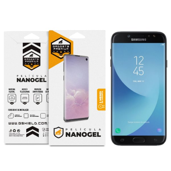 Película Nano Gel Dupla para Samsung Galaxy J7 PRO - Gshield (Cobre Toda Tela)