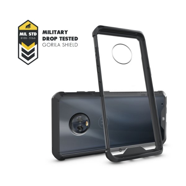 Capa Ultra Slim Air preta para Motorola Moto G6 Plus - Gorila Shield