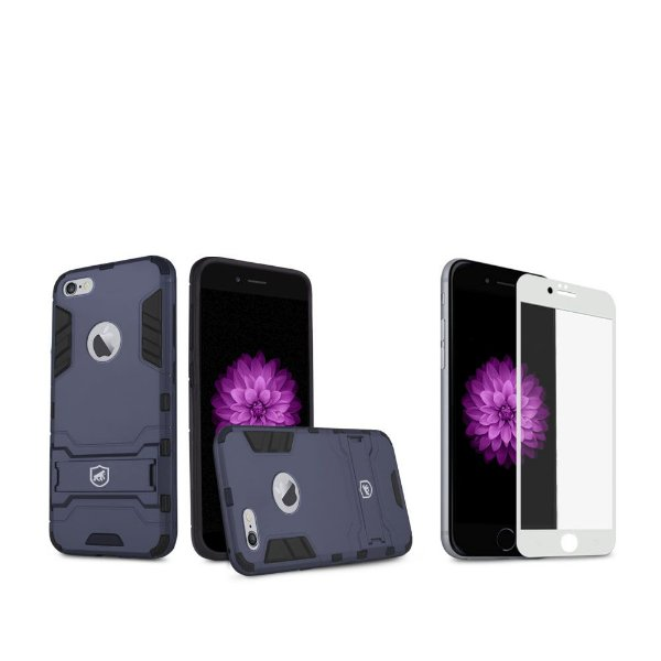 Kit Capa Armor e Película Coverage Branca para iPhone 6S - Gshield