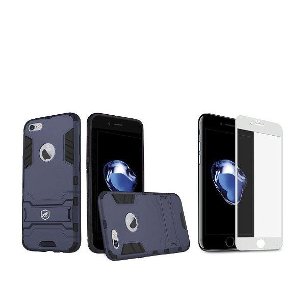 Kit Capa Armor e Película Coverage Branca para iPhone 7 - Gorila Shield