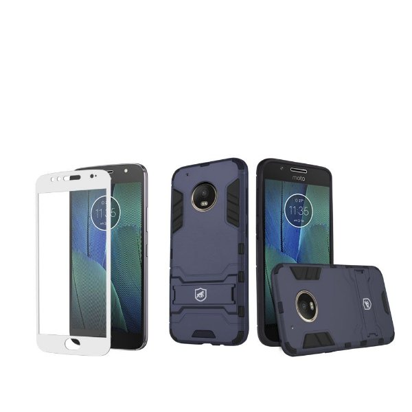 Kit Capa Armor e Película Coverage Branca para Moto G5S PLUS - Gorila Shield