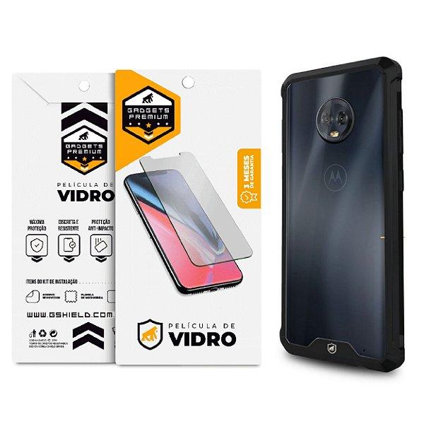 Kit Capa Ultra Slim Air e Película de Vidro Dupla para Moto G6 Plus - Gshield