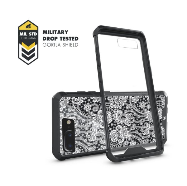 Capa Ultra Slim Preta Rendada para iPhone 7 Plus / 8 Plus - Gorila Shield