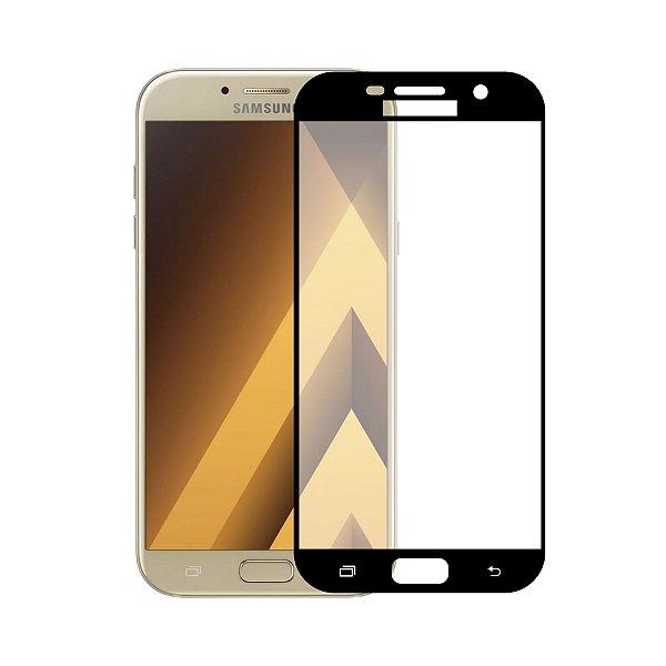 Película de Vidro Coverage Color para Galaxy A7 2017 - Preta - Gorila Shield (Cobre toda tela)