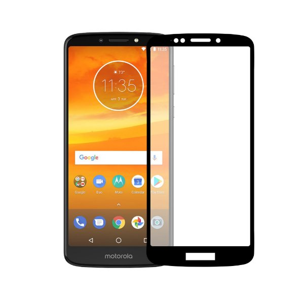 Película Coverage Color para Motorola Moto E5 - Preta - Gorila Shield