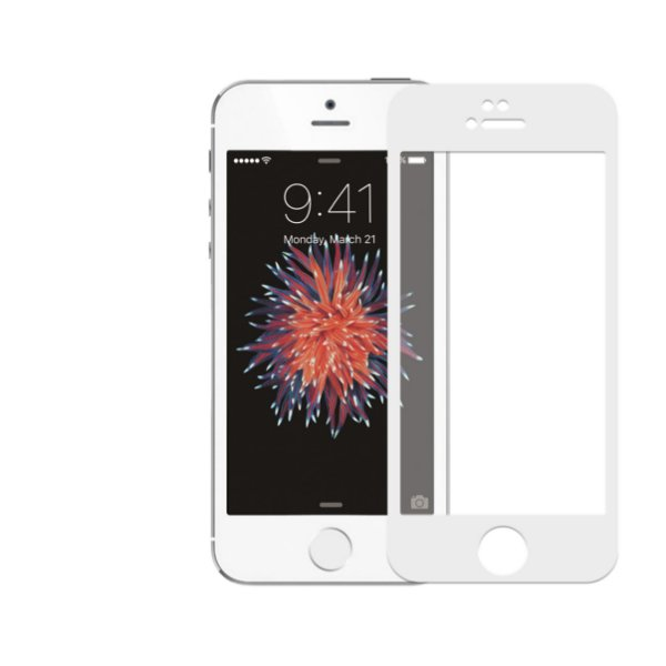 Película Coverage Color para Iphone 5, 5s e SE - BRANCA - Gorila Shield