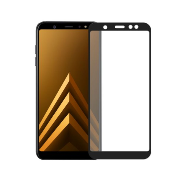 Pelicula Coverage Color para Samsung Galaxy A6 Plus - Preto - Gorila Shield