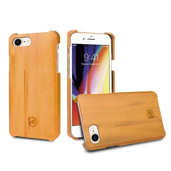 Capa de Madeira Peroba Clara para iPhone 8 e iPhone 7 - Gorila Shield