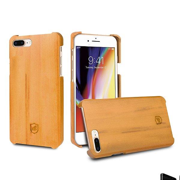Capa de Madeira Peroba Clara para Iphone 8 Plus e 7 Plus - Gorila Shield