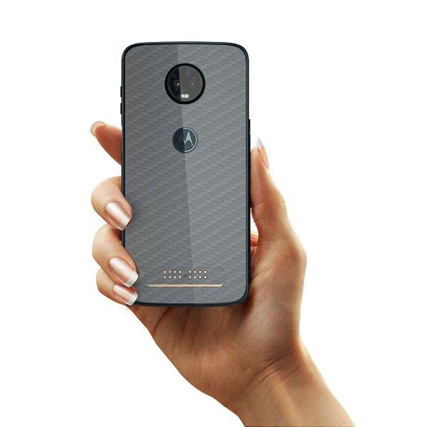 Película Traseira de Fibra de Carbono para Moto Z3 Play - Gorila Shield