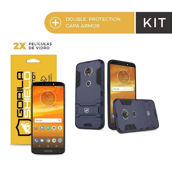 Kit Capa Armor e Película de Vidro Dupla para Motorola E5 Plus - Gorila Shield