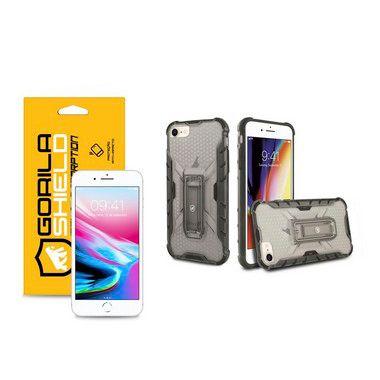 Kit Capa Plasma e Película de Vidro Dupla para Iphone 8 - Gshield