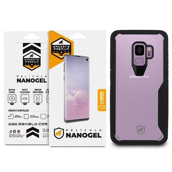 Kit Capa Atomic e Película de Nano Gel Dupla para Galaxy S9 Plus - Gshield