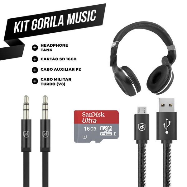KIT GORILA MUSIC 1 - OUTLET