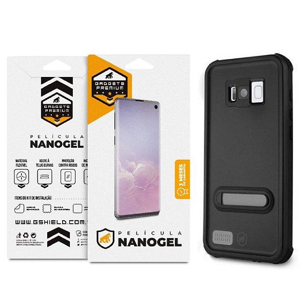 Kit Capa á Prova D'água e Película Nano Gel Dupla para Galaxy S8 Plus - Gshield