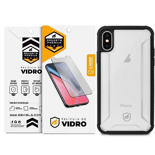 Kit Capa Hybrid e Película de Vidro Dupla para iPhone X e iPhone XS - Gshield