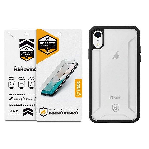 Kit Capa Hybrid e Película Nano Vidro para iPhone XR - Gshield