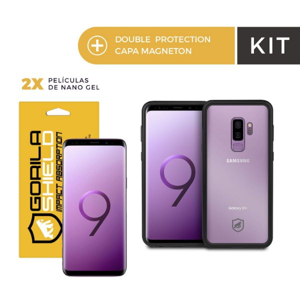 Kit Capa Magneton e Película Nano Gel para Galaxy S9 Plus - Gorila Shield