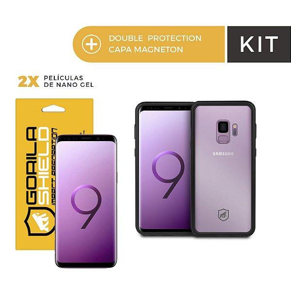 Capa Magneton e Película Nano Gel Dupla para Galaxy S9 - Gorila Shield
