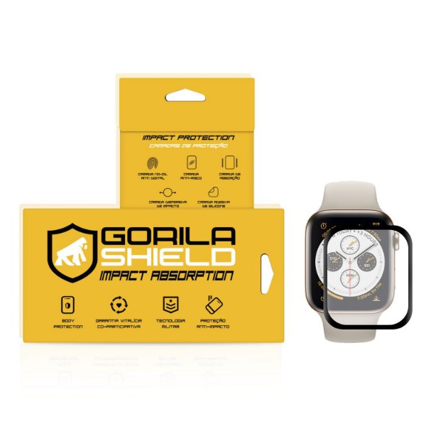 Película Nano Gel Dupla com Bordas Pretas para Apple Watch 40mm - Gorila Shield