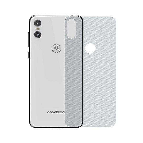Película Traseira de Fibra de Carbono Transparente  para Motorola One - Gshield