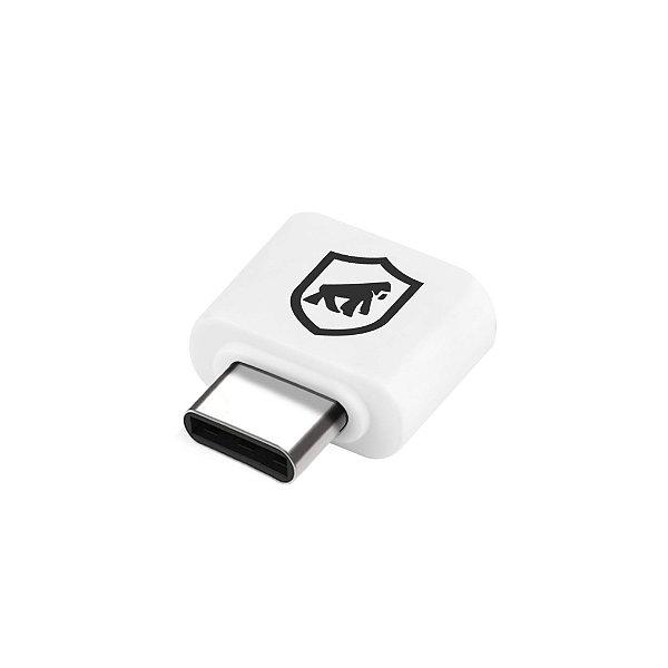 Adaptador OTG Branco - Tipo C para USB - Gorila Shield