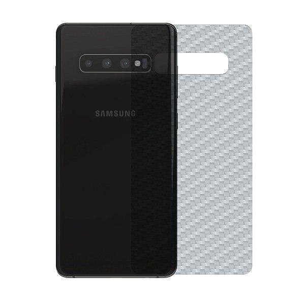Película Traseira de Fibra de Carbono Transparente para Samsung Galaxy S10 Plus - Gshield