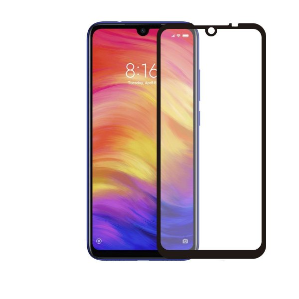 Película Coverage Color para Xiaomi Redmi Note 7 - Preta - Gorila Shield