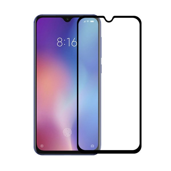 Película Coverage Color para Xiaomi Mi 9 - Preta - Gorila Shield