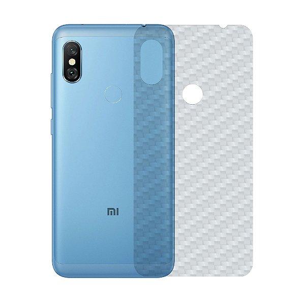 Película Traseira de Fibra de Carbono Transparente para Xiaomi Redmi Note 6 - Gorila Shield