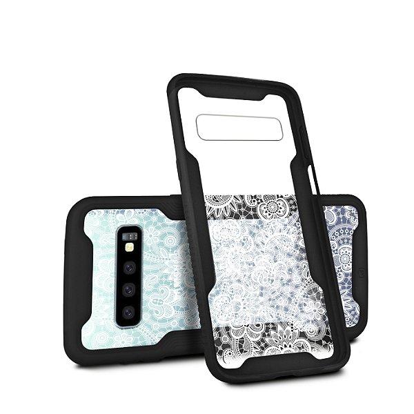 Capa Dual Shock Personalizada Rendada para Samsung Galaxy S10 - Gorila Shield