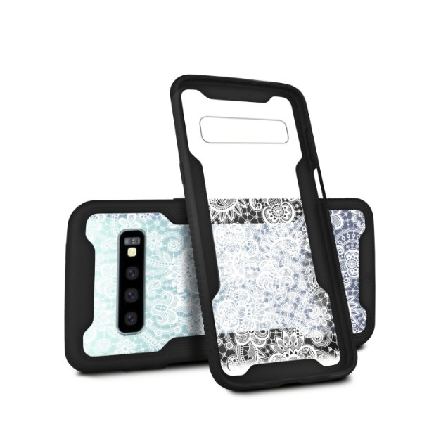 Capa Dual Shock Personalizada Rendada para Samsung Galaxy S10 Plus - Gorila Shield